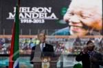 Intérprete en ceremonia de Madiba era un 'impostor'. Photo by AP