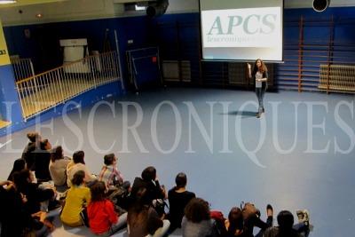 """Raquel Barandiarán: """"APCS lescroniques manifesta su preocupación por la exclusión social en la actualidad del colectivo sordo"""". Photo by Pedro Arias Redo"""