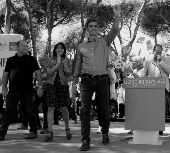 """Pedro Sánchez: """"Resistid en defensa de la legalidad a los insultos y coacciones"""". (lescroniques.com)"""