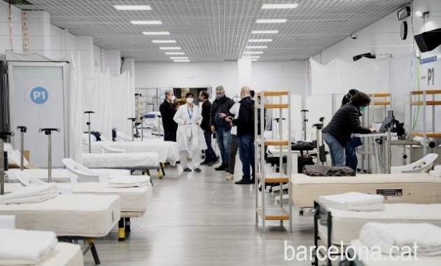 El Pabellón Salud Vall d'Hebron ya atiende a 132 pacientes con COVID-19. (barcelona.cat)