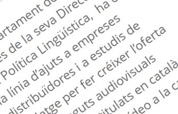El Departament de Cultura impulsa el doblatge i la subtitulació en català de pel•lícules i sèries en plataformes digitals i suports físics. (llengua.gencat.cat)
