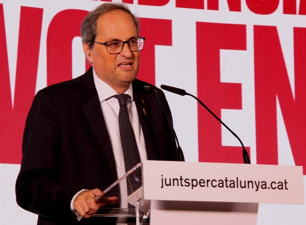 """Quim Torra: """"La voluntat decidida de tirar endavant, amb totes les conseqüències i sense excuses"""". (Pedro Arias Redo)"""