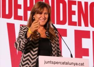 """Laura Borràs: """"El conflicte polític és resol a les urnes i no amb violència i repressió"""" . (Pedro Arias Redo)"""