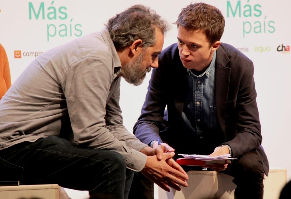 """Raimundo Viejo: """"El poble unit qüestiona el neoliberalisme"""". (Pedro Arias Redo)"""