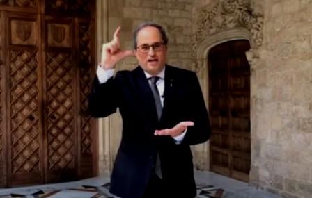 El president de la Generalitat participa en el Dia Internacional de les Llengües de Signes. (llengua.gencat.cat)