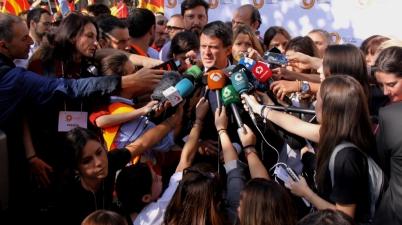 """Manuel Valls: """"Els carrers de la capital catalana senten catalans, espanyols i europeus"""". (Pedro Arias Redo)"""