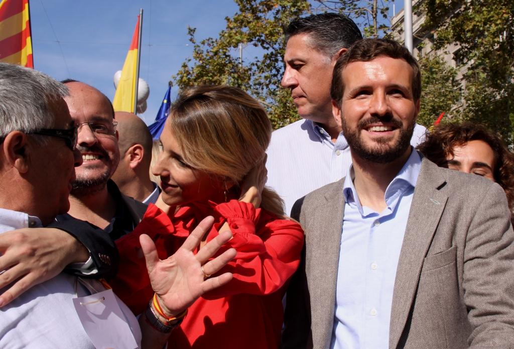 """Pablo Casado: """"Catalunya és una terra completament oposada a la violència"""". (Pedro Arias Redo)"""