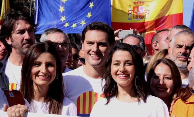 """Albert Rivera: """"La unitat dels espanyols enfront d'aquells que cremen els carrers catalans"""" . (Pedro Arias Redo)"""