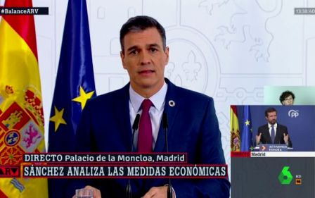 Críticas a La Sexta por lo que se ha visto en pantalla durante la comparecencia de Sánchez. (huffingtonpost.es)