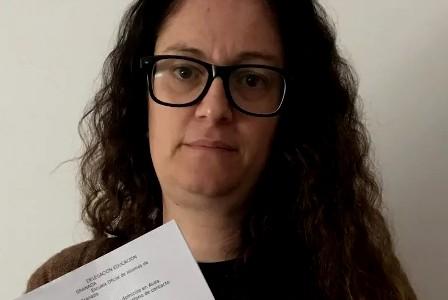 """Carmen, suspensa en la Escuela Oficial de Idiomas por ser sorda: """"Tengo el mismo derecho a formarme"""". (niusdiario.es)"""